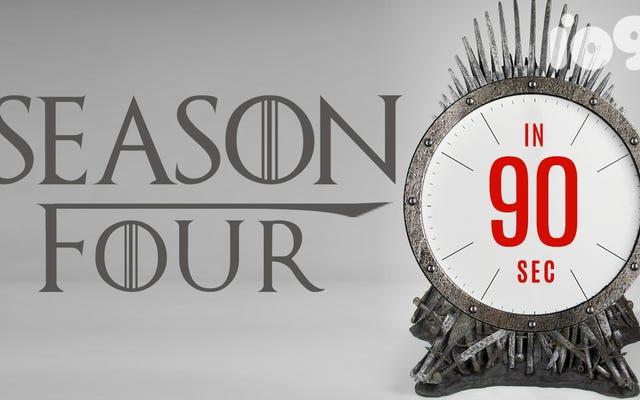 ゲーム・オブ・スローンズの第4シーズンから90秒で覚えておく必要のあるすべて