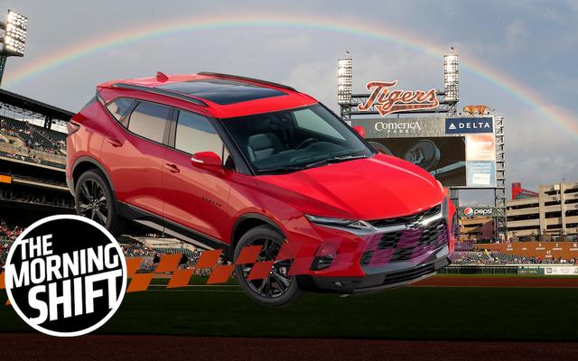"""Chevrolet Blazer di fabbricazione messicana chiamata """"Schiaffo in faccia"""" al Detroit Ballpark"""