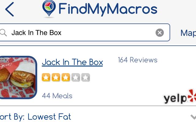FindMyMacros encuentra restaurantes cercanos que se ajustan a su plan de alimentación