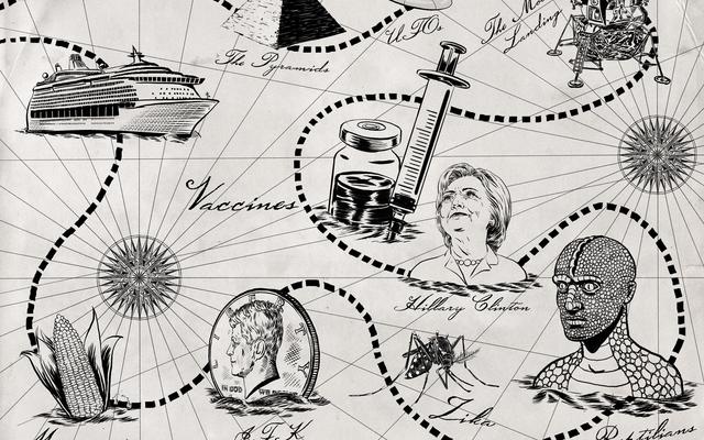 帆(遠い)離れて:陰謀理論家のアメリカ最大のフローティングギャザリングで海で