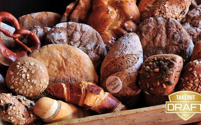 Rascunho de comida de fantasia do Takeout: o melhor pão