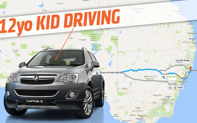 ตำรวจดึงเด็กอายุ 12 ปีขับรถ 800 ไมล์ทั่วออสเตรเลีย