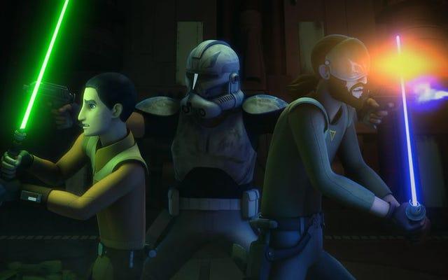El retroceso de Star Wars Rebels a The Clone Wars está empantanado por un terrible medio