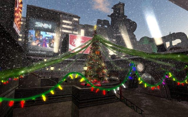 C'est Noël dans Midgar de Final Fantasy, au moins au sommet de l'assiette