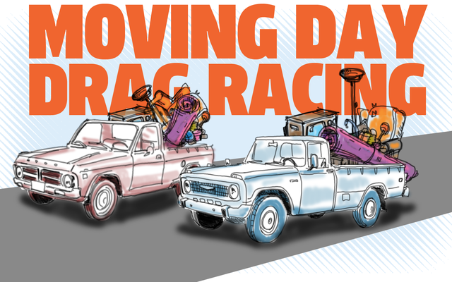 私は新しい種類のトラックに優しいドラッグレースのアイデアを手に入れました