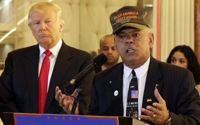 トランプの退役軍人顧問は、ヒラリー・クリントンが「反逆罪のために撃たれる」べきであると主張し続けます