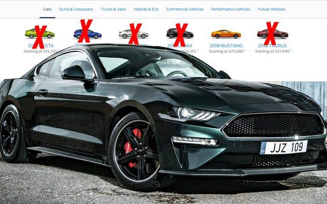 フォードはマスタングとフォーカスアクティブを除いて北米ですべての小型車とセダンを段階的に廃止する