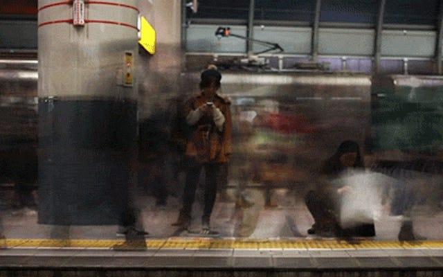 東京のクールなビデオは、フレームを積み重ねることでぼやけた効果を曲げることを気にしました