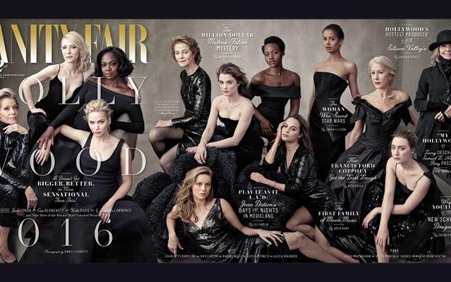 Ist nichts anderes als Damen auf dem Cover der jährlichen Hollywood-Ausgabe von Vanity Fair