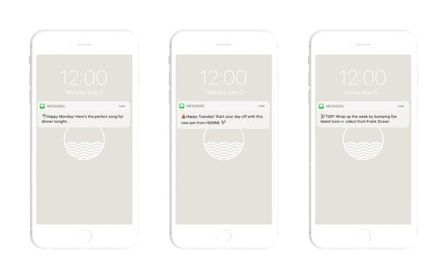 Noon Pacific Daily vous propose chaque jour une nouvelle chanson par SMS