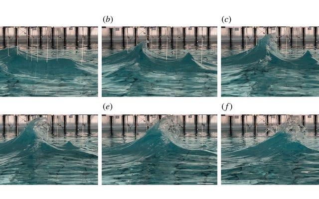 科学者たちは実験室で気紛れに背の高い「不正な」波を再現しようとしています