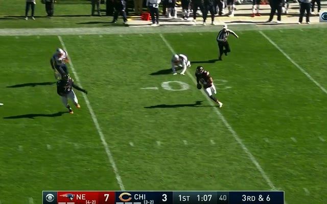 Mitchell Trubisky corre alrededor de 70 yardas para una carrera de touchdown de ocho yardas [ACTUALIZACIÓN]