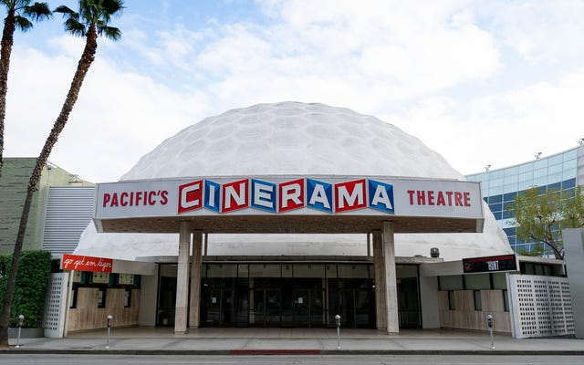 Cinerama обвиняет в закрытии больше зрителей, предпочитающих смотреть фильмы с собственных геодезических куполов