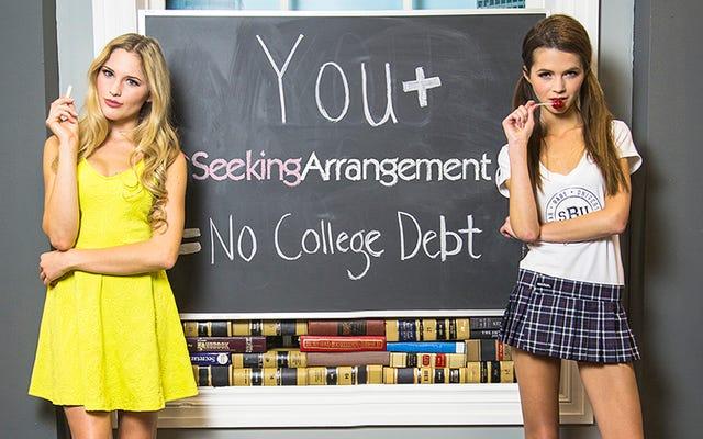 シュガーダディのウェブサイトは驚くほど大学の女性にそれほど人気がありません
