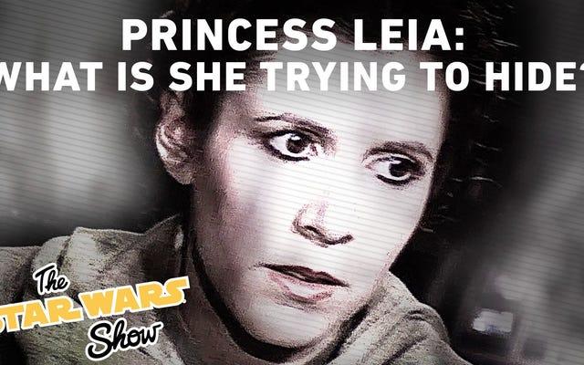 レイア姫は彼女自身の政治的攻撃の広告を受け取りました
