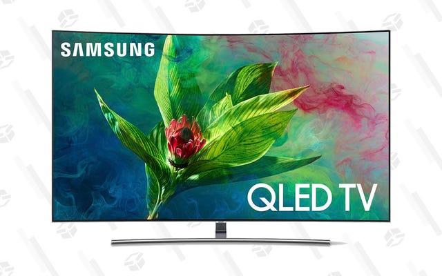 サムスンの55インチと65インチの湾曲したQLEDテレビで今すぐ数百を節約
