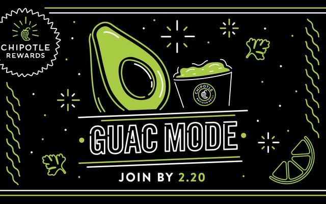Chipotle lance le «mode Guac» auprès des clients du pays