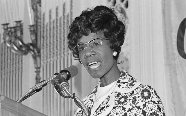 Thật là một ngày tốt lành khi nghĩ đến Shirley Chisholm, Người phụ nữ da đen đầu tiên tranh cử Tổng thống với tư cách là một ứng cử viên chính của Đảng