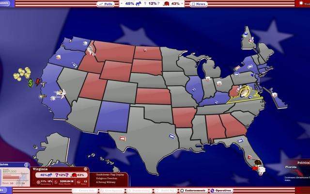 हम एक वीडियो गेम का उपयोग करके आज के चुनाव का अनुकरण कर रहे हैं