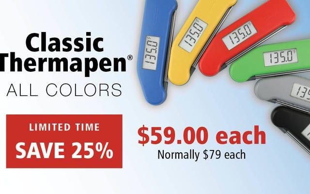 Kultowy Thermapen Classic powraca do najniższej ceny w historii