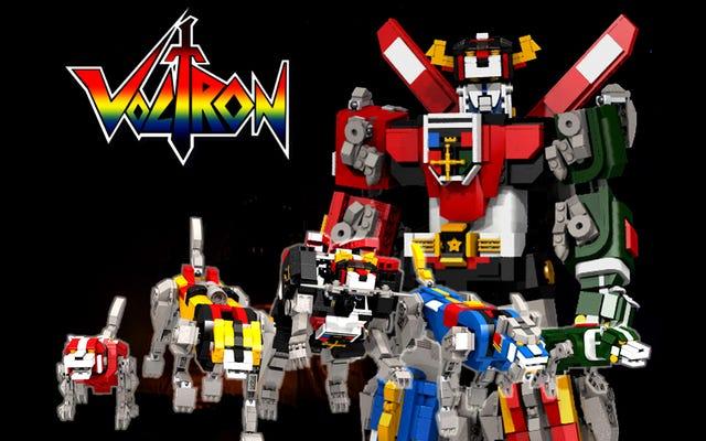 昔ながらのボルトロンセットが正式にレゴに登場