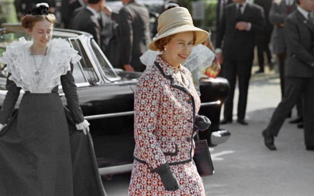 エリザベス女王はオリジナルのヴィンテージ-フランプ-シックスタイルのアイコンです