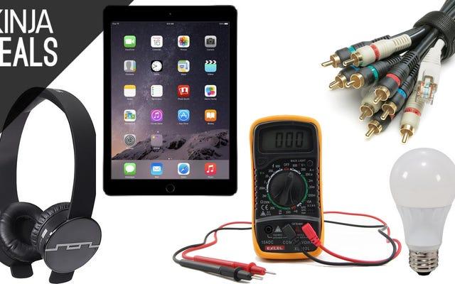 Promo Terbaik Hari Ini: iPad, Cable Ties, Headphone, dan Lainnya