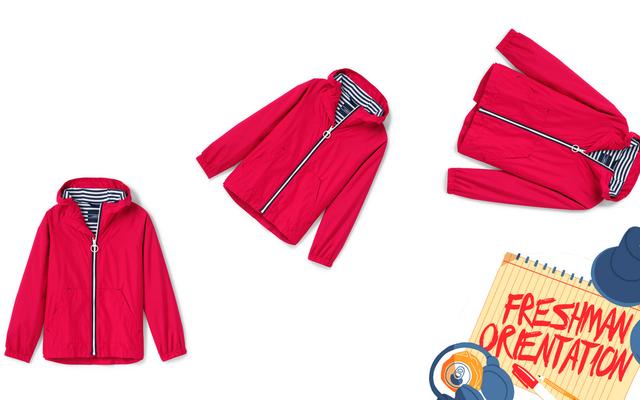 「フリップトリック」でジャケットを着る方法を未就学児に教える