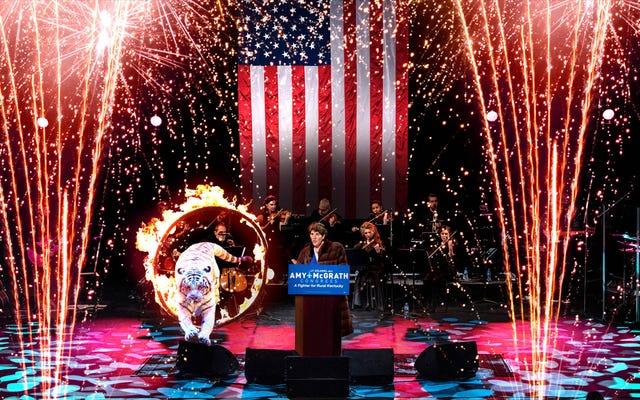 エイミー・マクグラスが贅沢な譲歩ボナンザで残りの選挙資金を吹き飛ばす