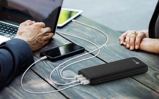 この45ドルのバッテリーパックは、ラップトップまたはスイッチを30Wで充電できます