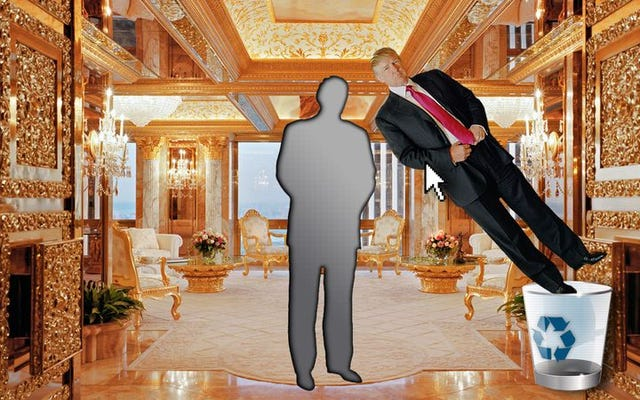 Donald Trump perlahan-lahan dihapus dari situsnya sendiri