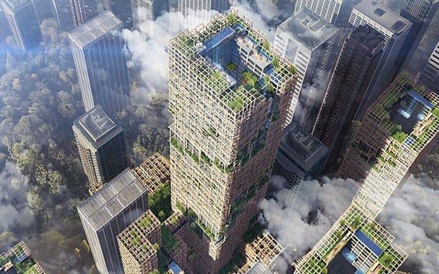 木製の高層ビルは本物ですか?