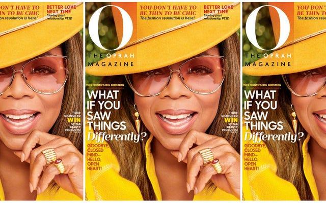 ゴールデンレディ:オプラはOMagazineの9月号の純金です