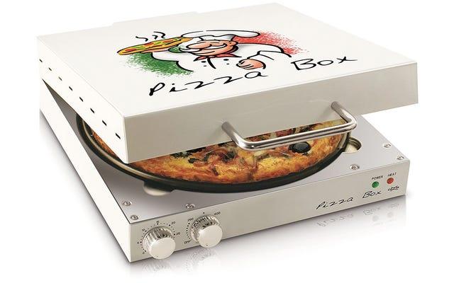 La pizza di questo forno a forma di scatola è sempre calda e appiccicosa