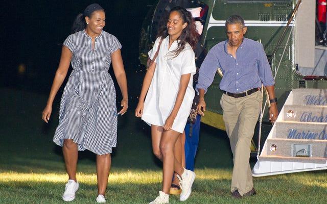 最終的に!オバマ女性によると、今は正式にサンドレスとスニーカーのシーズンです