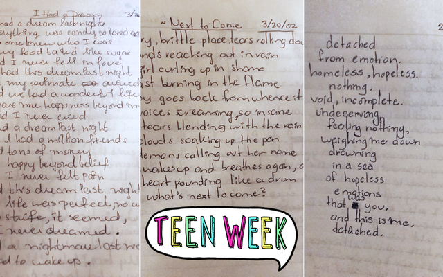 クローバーの十代の日記:「絶望的な感情の海に溺れる」