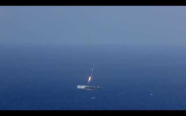 Regardez à quel point la fusée Falcon9 de SpaceX est arrivée à un atterrissage réussi