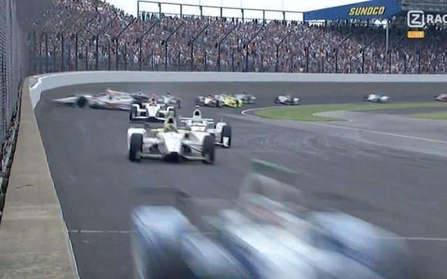 Huge Indy 500 Wreck Her Nasılsa Sadece Beş Araba Yiyor