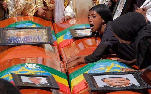 予備報告によると、エチオピア航空のパイロットはボーイング737の最大衝突事故の前に適切な手順に従った
