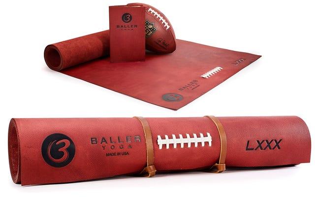 Tikar Yoga $ 1.000 Ini Terbuat Dari Kulit Sepak Bola NFL Asli Mungkin Baunya Luar Biasa