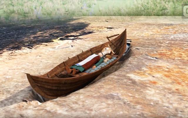 Dlaczego Wikingowie zakopali dwie osoby w łodziach jedna na drugiej, sto lat od siebie?