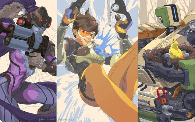 Портреты героев Overwatch
