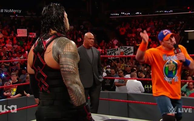 John Cena และ Roman ครองราชย์ทำลายกำแพงที่สี่ตัดโปรโมชั่นที่ยิ่งใหญ่