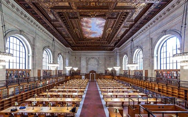 Sehen Sie, wie der schöne Lesesaal der New York Public Library mit Büchern neu sortiert wird