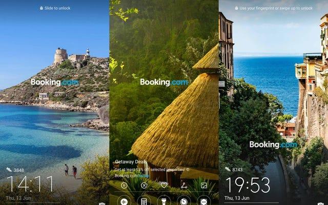 Huawei a décidé d'afficher la publicité de réservation sur l'écran de verrouillage de ses téléphones
