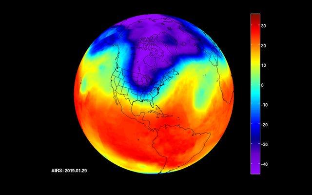 新しいNASAの視覚化は、恐ろしい極渦が実際にどのように見えるかを示しています
