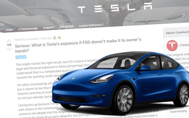 Les propriétaires de Tesla prennent Reddit pour demander ce qui se passe si la `` conduite autonome complète '' n'est pas réelle