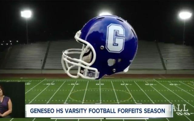 हाई स्कूल फुटबॉल टीम खेल से पहले ऑक्सी लेती है, संपूर्ण सीजन को आगे बढ़ाती है