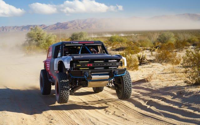 La nuova Ford Bronco R non è riuscita a completare la Baja 1000
