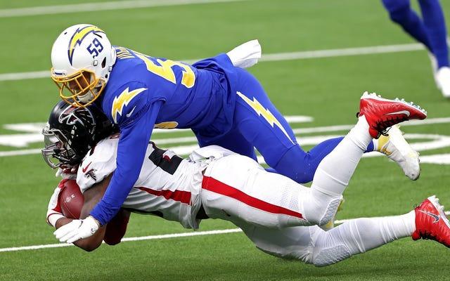 Les chargeurs survivent contre les perruches d'Atlanta alors que les deux équipes tentent désespérément de donner la victoire